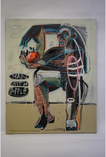 Man with apple, 2020, signé